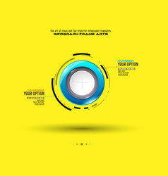 infograph template with multiple choices and a vector image