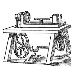 lathe vintage vector image