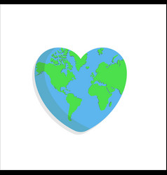 Love earth world good for nature or environment vector