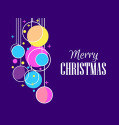 merry christmas holiday background with hanging vector image