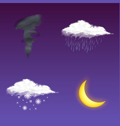 modern realistic weather icon meteorology symbol vector image