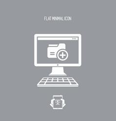 new folder - flat minimal icon vector image