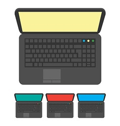 Notebook icon top view vector