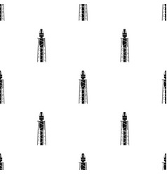 Oil rig icon in black style isolated on white vector