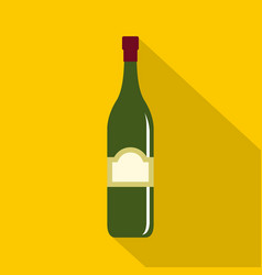 One bottle icon flat style vector
