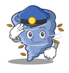 Police tornado character cartoon style vector