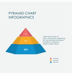 pyramid chart infographics elements 3d vector image