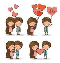 Romantic day design vector image