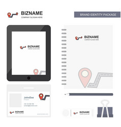 Route business logo tab app diary pvc employee vector