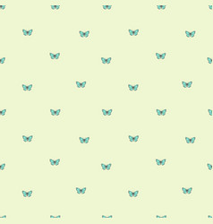 seamless background with little butterflies on vector image