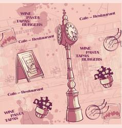 seamless cartoon pink set pin-up hungary vector image