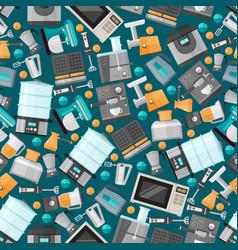 Seamless pattern kitchen technology gadget banner vector