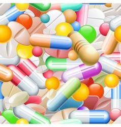 Seamless Pills vector image vector image