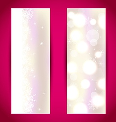 Set Christmas banners with snowflakes vector