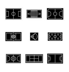 set of icons playgrounds vector image