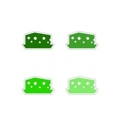 Set of paper stickers on white background Dutch vector