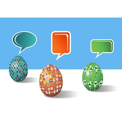 Social media decorative easter eggs vector