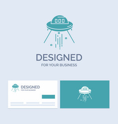 space ship space ship rocket alien business logo vector image