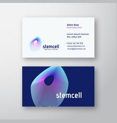 Stem cell abstract logo and business card vector