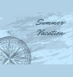 summer vacation banner with wind rose vector image