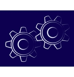 Symbol of the cogwheels vector image