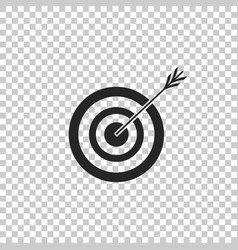 target with arrow icon on transparent background vector image
