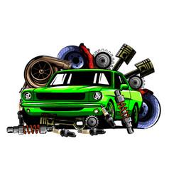 vintage badges signage for car service vector image