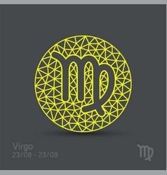 Virgo zodiac sign in circular frame vector