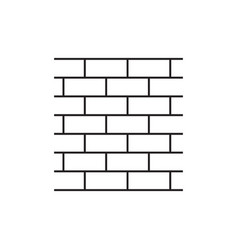 wall brick icon in flat style isolated on white vector image