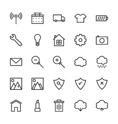 Web and User Interface Outline Icons 8 vector