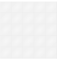 White brick wall pattern vector