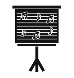 whiteboard with music notes icon simple style vector image