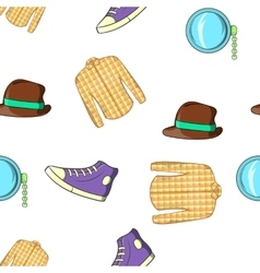 Youth pattern cartoon style vector