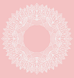 Zenart round frame with pattern from leaves lace vector