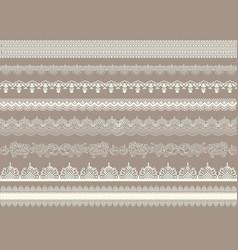 beautiful lace ribbons set vector image