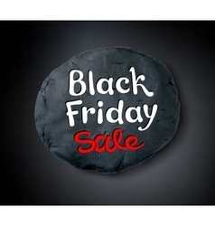 Black friday lettering and plasticine banner vector
