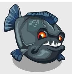 Evil piranha with sharp teeth isolated vector image
