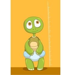 Funny Turtle Baby Measure vector image vector image