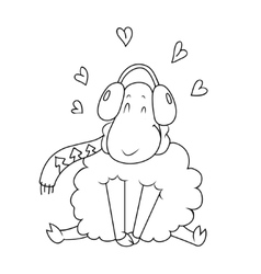 lamb Doodle vector image vector image