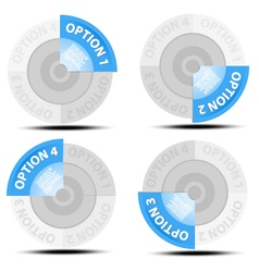 One two three four vector image