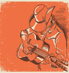 American country music festival with musician vector image vector image