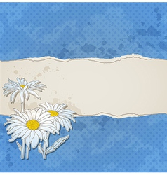 blue torn paper vector image vector image