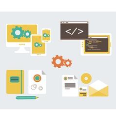 Flat design of business branding and development w vector image vector image