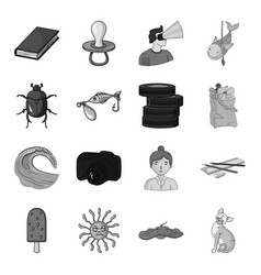 monster animal cat and other web icon in vector image