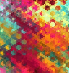 pattern of geometric shapes Triangle mosaic vector image vector image