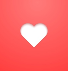 Valentine Day Heart Paper Cut vector image vector image