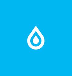 water aqua drop element logo icon symbol vector image