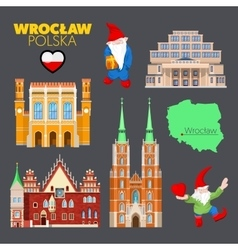 Wroclaw Poland Travel Doodle with Architecture vector image vector image