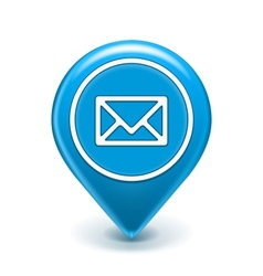 Email Map Location Icon vector image vector image