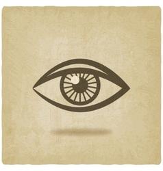 eye symbol old background vector image vector image